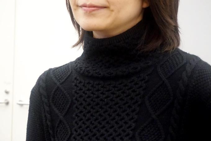 アラン編みニットプルオーバー黒田知永子 (18)