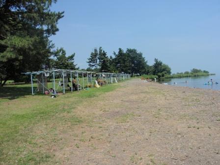 琵琶湖で泳ぐ