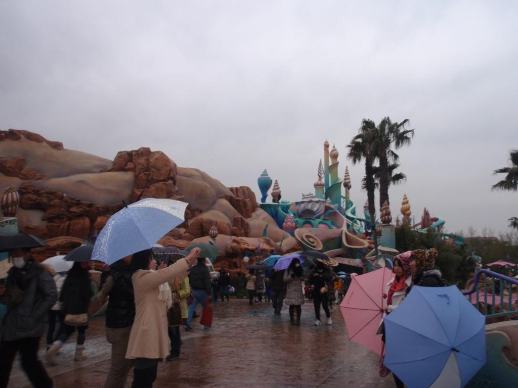 ディズニーシー 雨