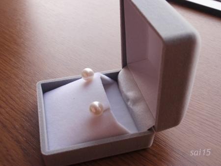 本真珠一粒ピアス 1万円 2