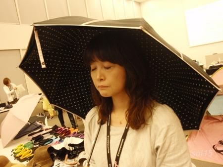 クールブラック パイピング 晴雨兼用UV日傘