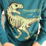 恐竜好きな小5★光る長袖秋冬Tシャツ「ランズエンド Lands' End」レビュー※着画像