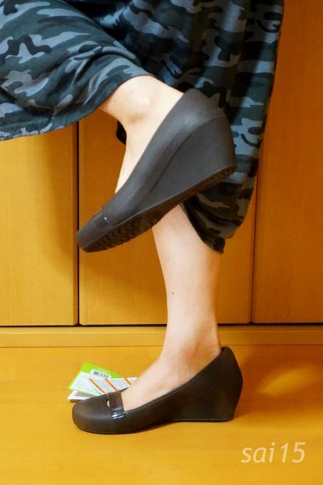 足あげてみた クロックス ブリン ウェッジ ウィメン crocs (4)