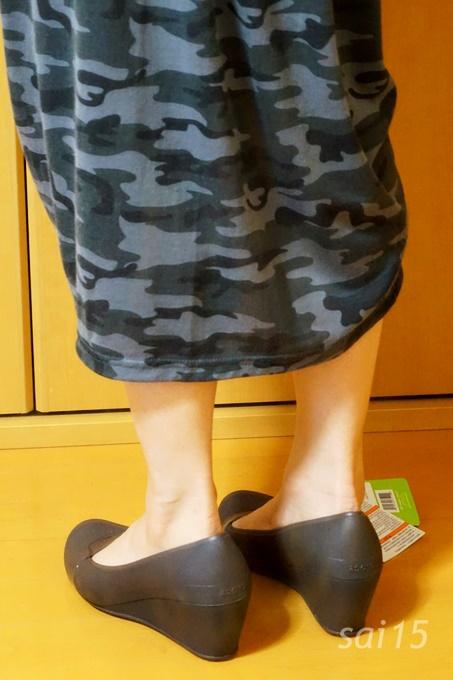 横姿 クロックス ブリン ウェッジ ウィメン crocs (6)