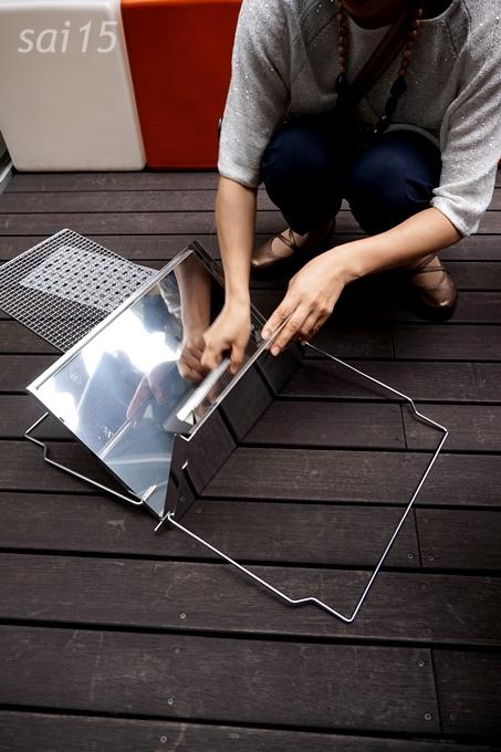 このようにすべて収納可能ステンレス製折り畳み式・コンパクトバーベキューコンロBellemaison (44)