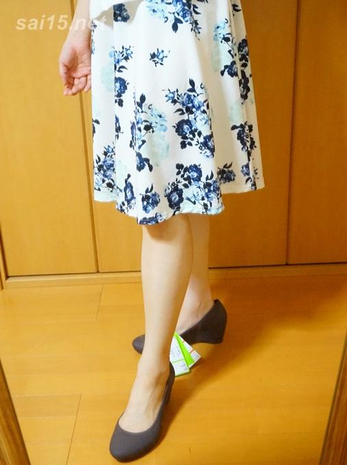 ミモレ丈スカートにぴったり クロックス リナ ウェッジ ウィメン