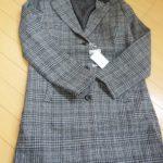 セシール 1万円コート「襟配色グレンチェック チェスターコート」感想と口コミ