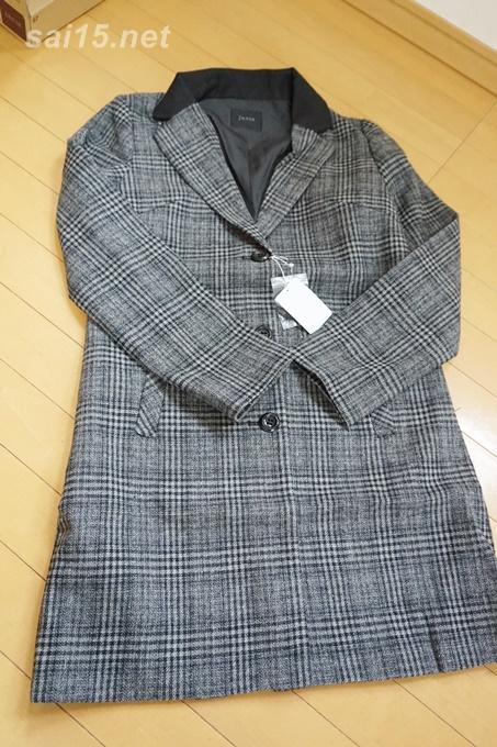 チクチクしないグレンチェックのチェスターコートが1万円 イマージュ