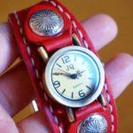 名入れ刻印OK!革 腕時計はプレゼントギフトに♪