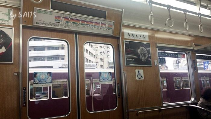 大阪からは阪急線
